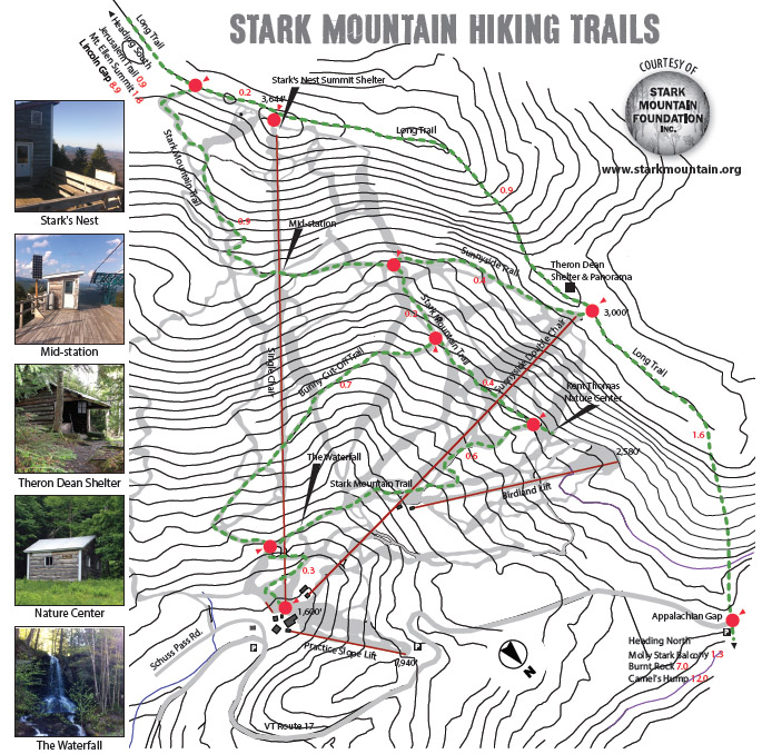 Hiking Trail Map - Mad River Glen, Vermont